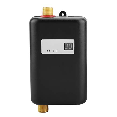 Garosa 3KW Mini Electric Tankless Instant Warm Water Heater with LCD Display for Home Kitchen Washing US Plug 110V, Only Make Water Warm, WON'T Very Hot, Need 32Amps Circuit Breaker