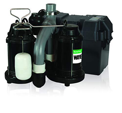 Wayne WSS30VN Upgraded Combination 1/2 HP and 12-Volt Battery Back Up System , Black