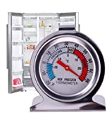 JSDOIN Freezer Refrigerator Refrigerator Thermometers Large Dial Thermometer 2 Pack (1 PACK)