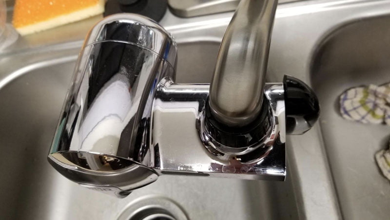 pur vertical faucet water filter review