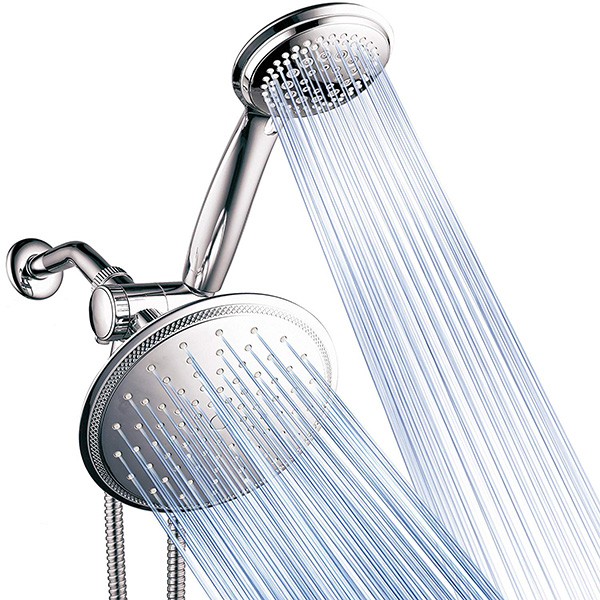 DreamSpa 3-way 8-Setting Rainfall Shower Head and Handheld Shower Combo